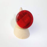 Cherry Red Statement Ring, Cocktail Ring, Chunky Ring, Glass Ring, Big Bold Adjustable Ring