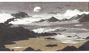 Black & White Cypress - Sand Tapestry