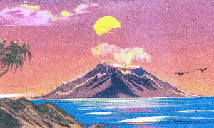 Fiery Eruption - Sand Tapestry