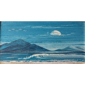 Vintage Blue Wave - Sand Tapestry
