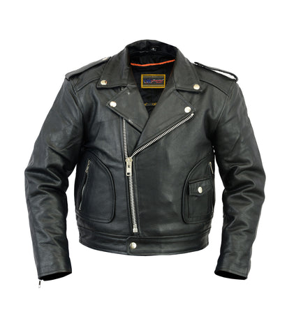 Kids Motorcycle Biker Jacket | Leather
