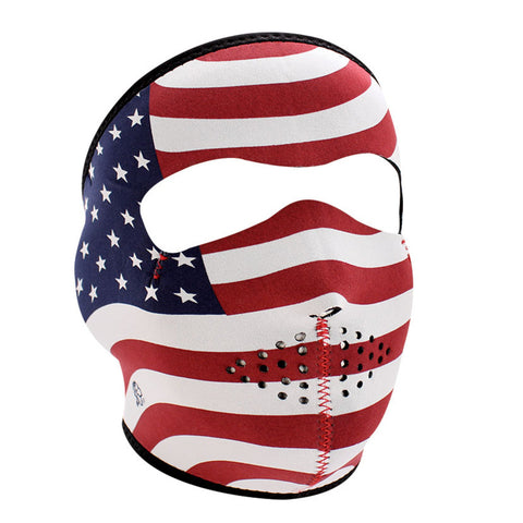 WNFM003 ZAN Full Mask- Neoprene- Stars and Stripes
