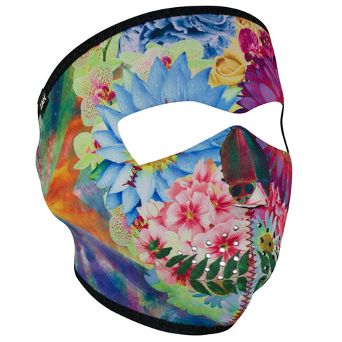 WNFM182 ZAN Full Mask- Neoprene- Flower Skull