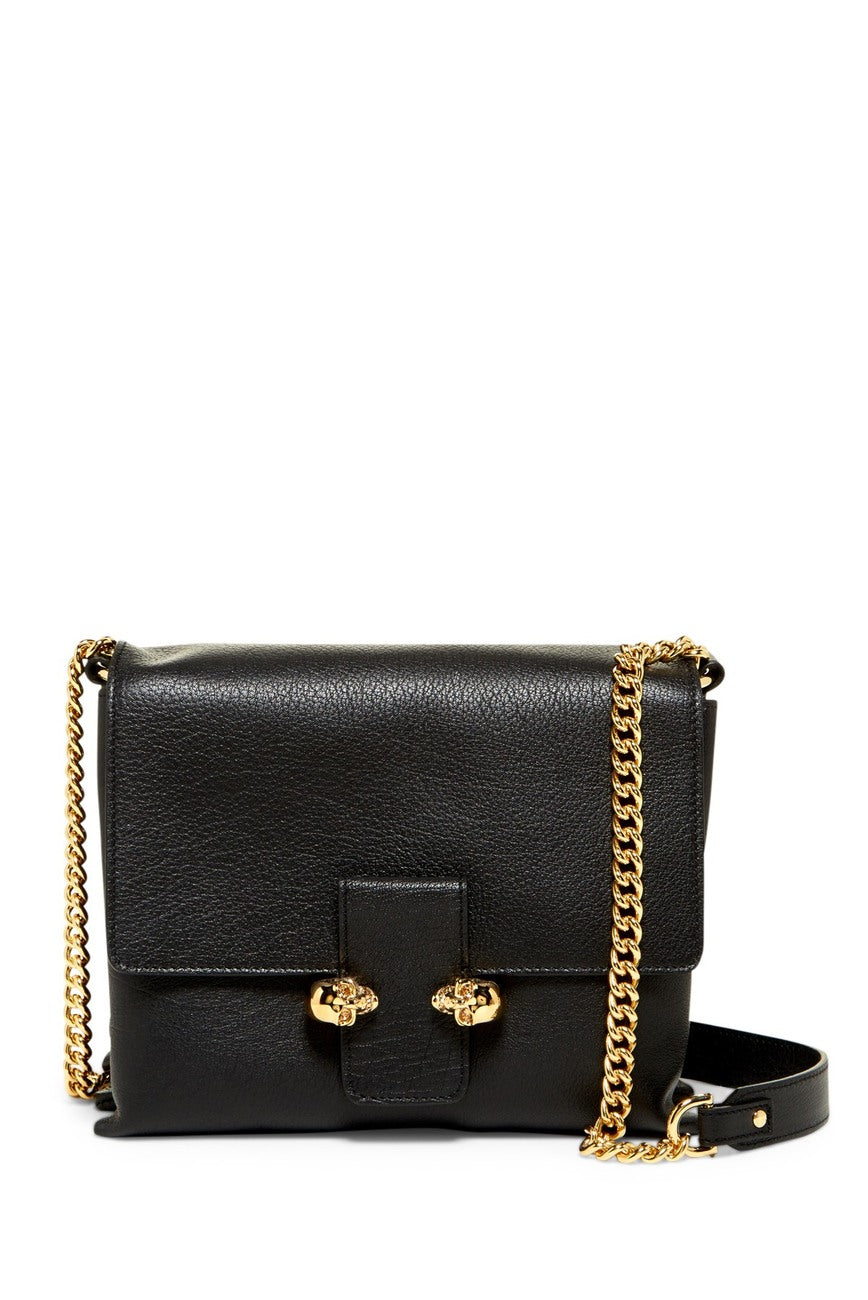 Twin Skull Large Leather Satchel