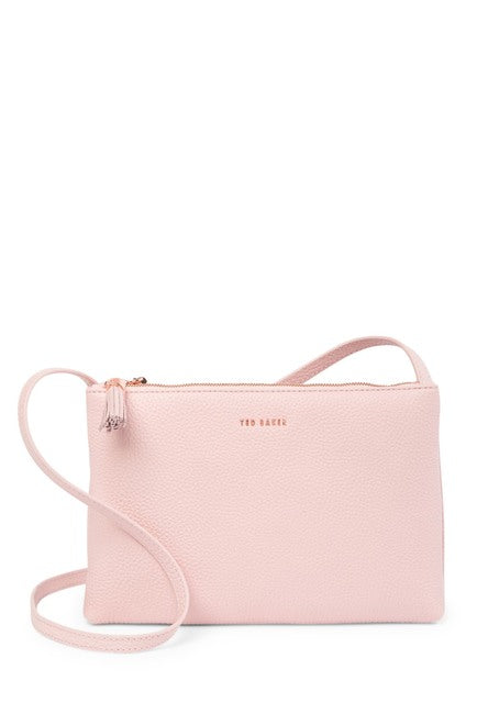 Maceyy Double Zip Leather Crossbody Bag
