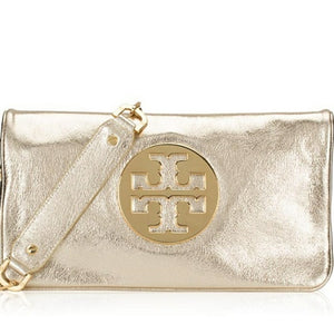 Reva Metallic Gold Clutch