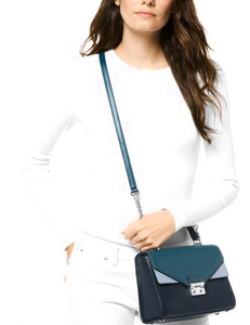 Sloan Tricolor Leather Top Handle Satchel