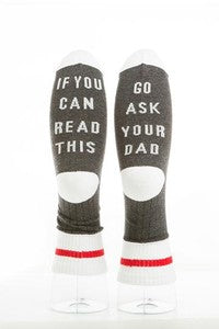 """Go Ask Dad"" Socks"