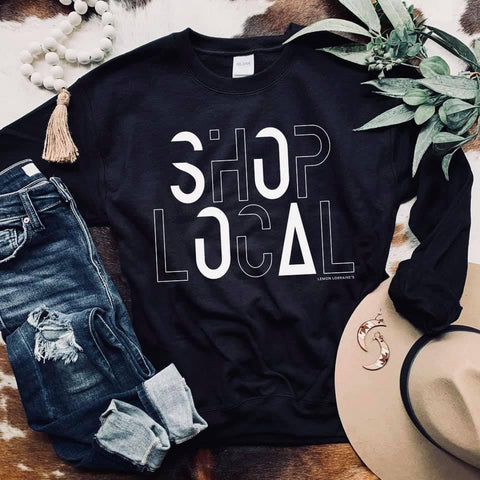 Shop Local Black Graphic Sweatshirt