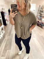 Lannie Thermal Knit Top- Mocha