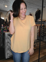 MOLLI TWIST BACK TOP-YELLOW