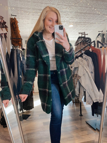 Jolly Green Plaid Coat