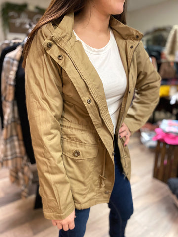 Kelsey Jacket With Fur Lining-Camel