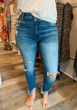 Double Button High Rise Skinny Jean
