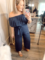 JUNO NAVY JUMPSUIT