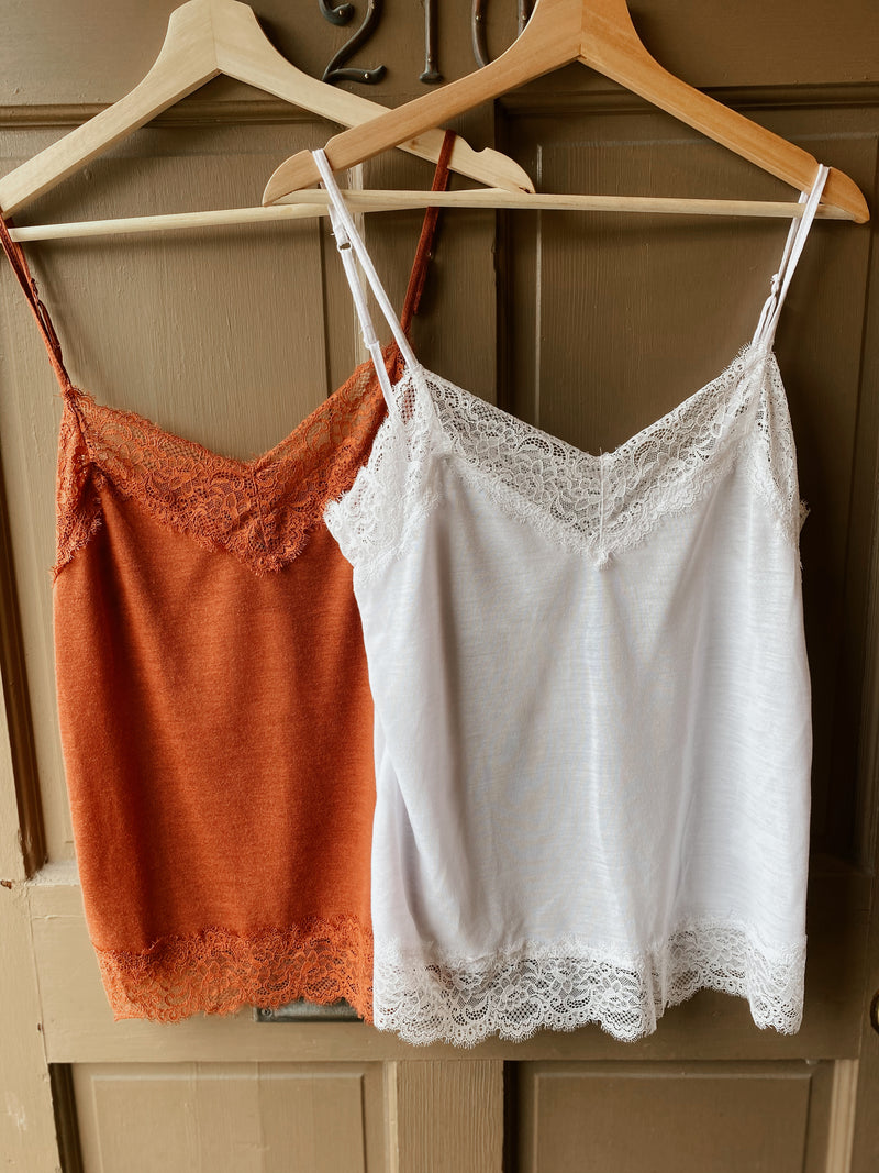 Lacey Stacy Knit Tank-Clay