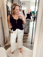 Lucys Wide Leg White Denim