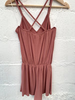 Just Right Romper-Mauve