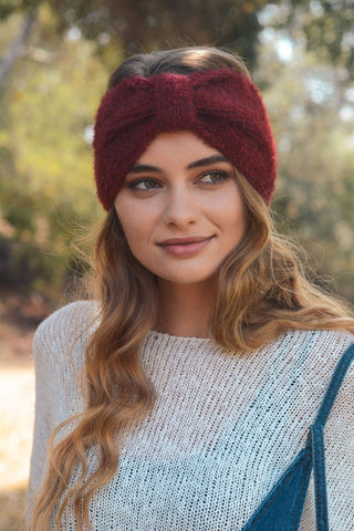 Soft and Fuzzy Headband-Burgundy
