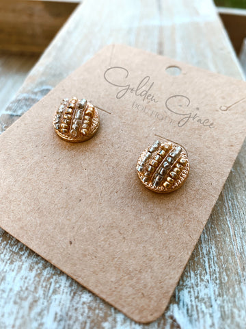 ZzzzSilver/Gold Dome Earrings