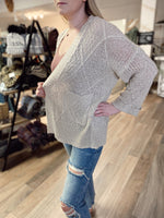 Light Knit Cardigan- Taupe