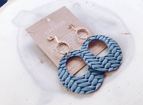 Viti Earrings Braided Grey