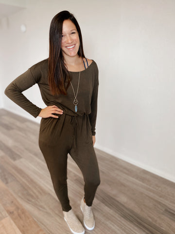 My Favorite Jumpsuit-Olive