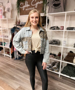 Brynn Leopard Denim Jacket