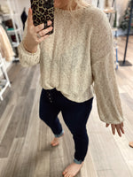 Reese Loose Knit Tie Back Sweater