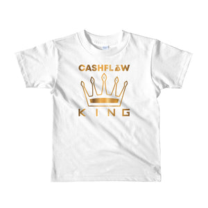 """Cashflow King"" White Kid's T-Shirt"