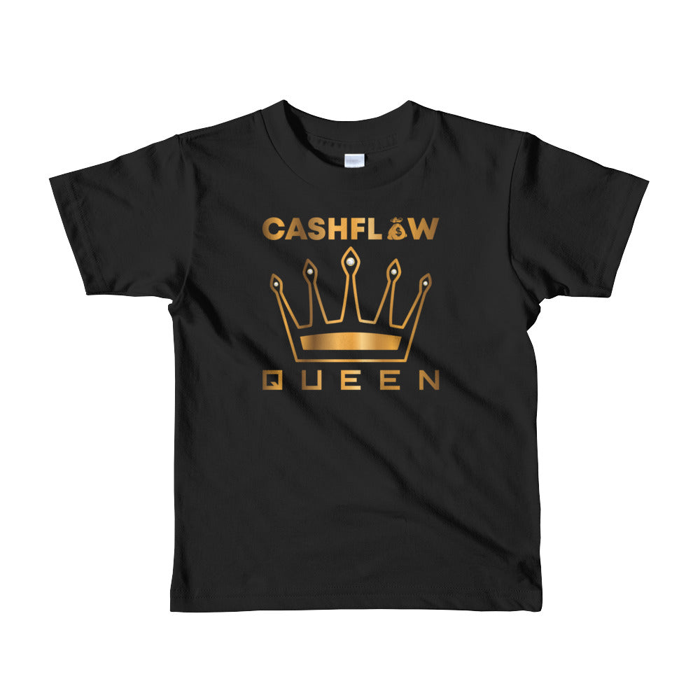 """Cashflow Queen"" Black Kid's T-Shirt"