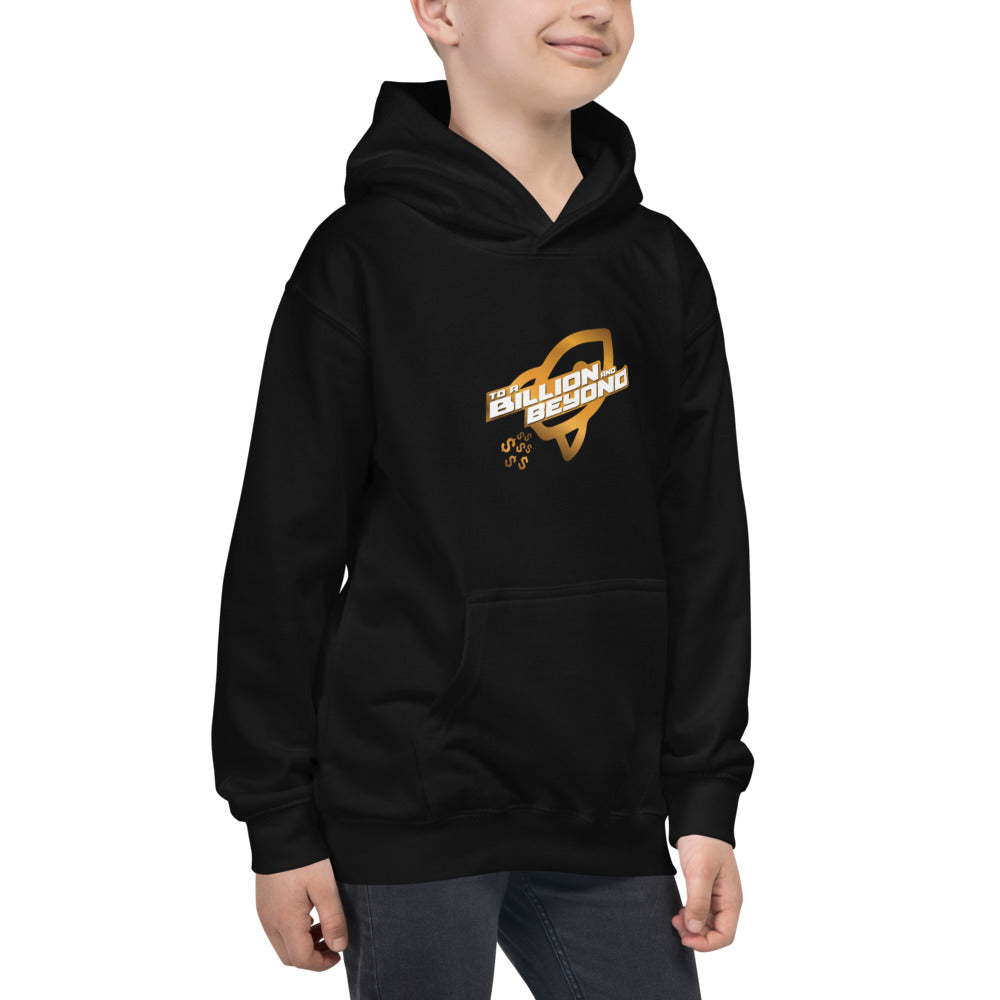 """To A Billion And Beyond"" Kids Hoodie"