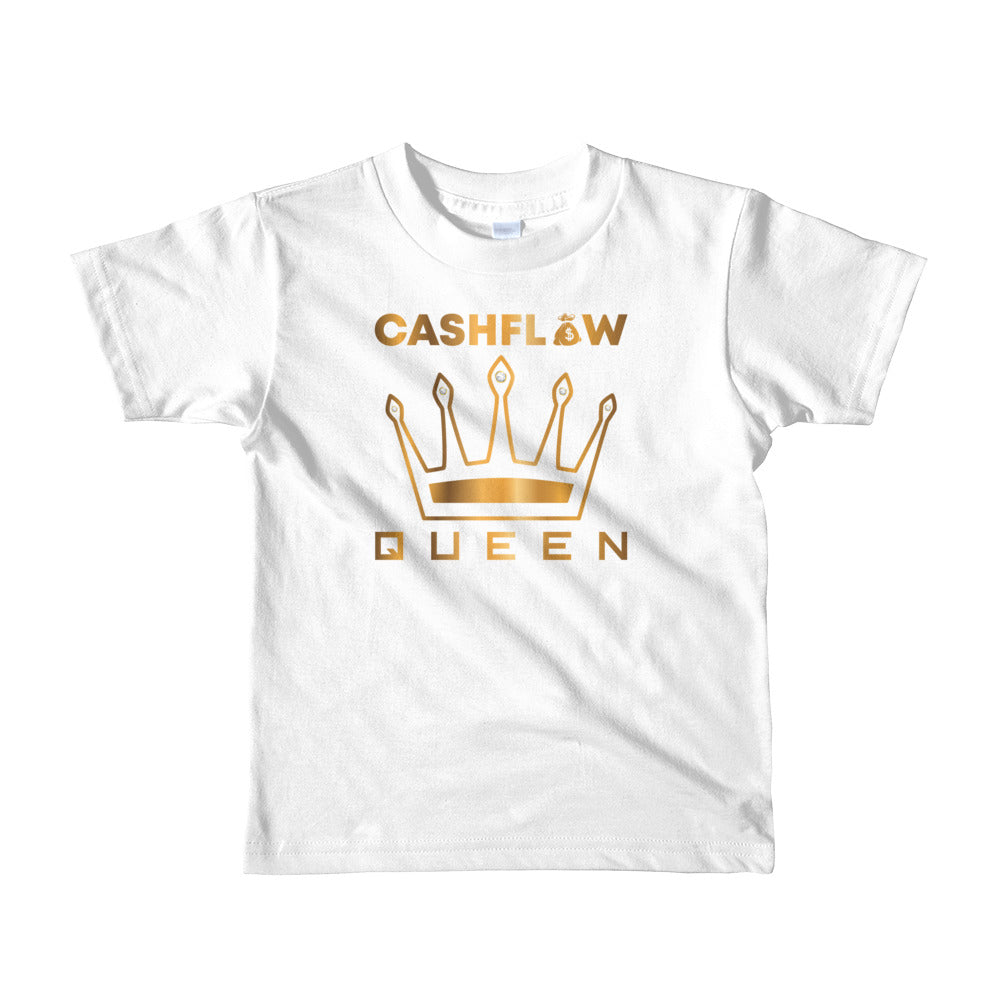"""Cashflow Queen"" White Kid's T-Shirt"