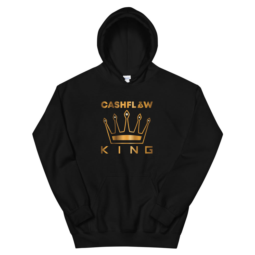 """Cashflow King"" Black Men's Hoodie"