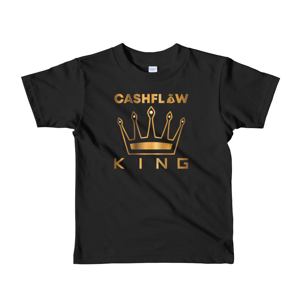 """Cashflow King"" Black Kid's T-Shirt"