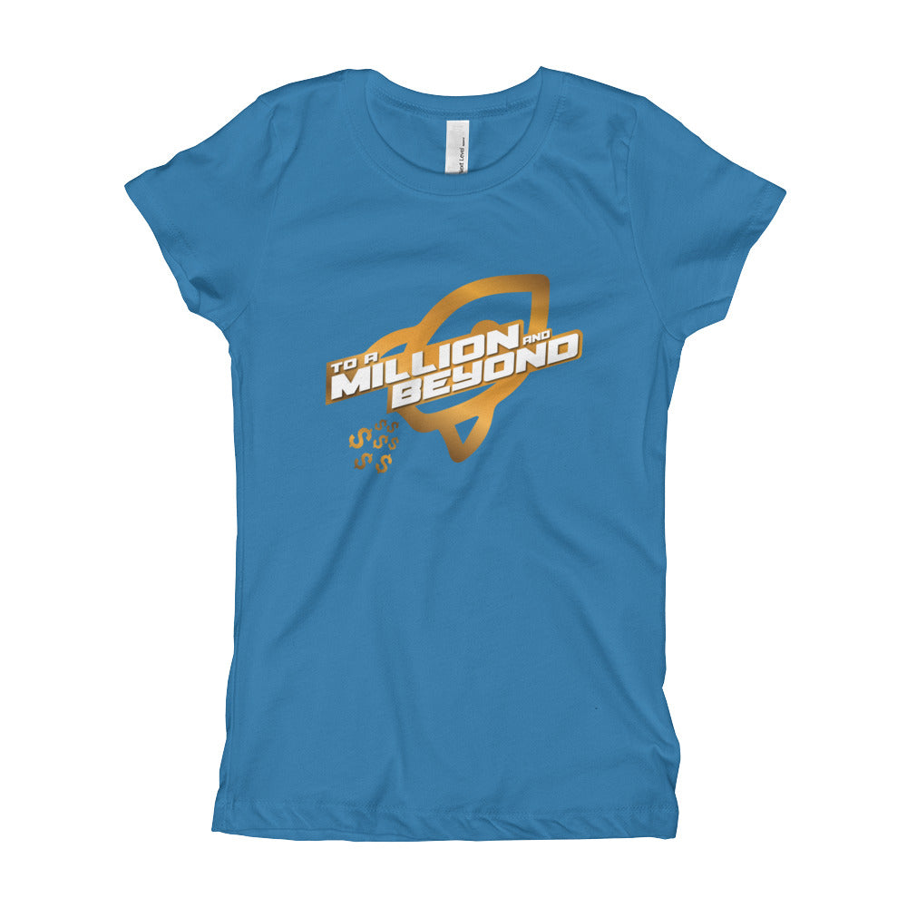 """To A Million And Beyond"" Girls Slim Fit T-shirt"