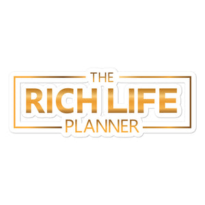 """The Rich Life Planner"" Stickers"