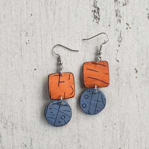 Sunrise Over the Ocean Isle Polymer Clay Statement Earrings