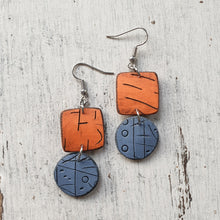 Load image into Gallery viewer, Sunrise Over the Ocean Isle Polymer Clay Statement Earrings