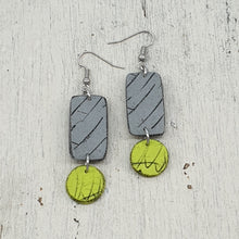 Load image into Gallery viewer, Azula Dot Isle Earrings - Gorgeous Grey and Vibey Green