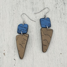 Load image into Gallery viewer, Azula Square Isle Earrings - Natures Natural Hues