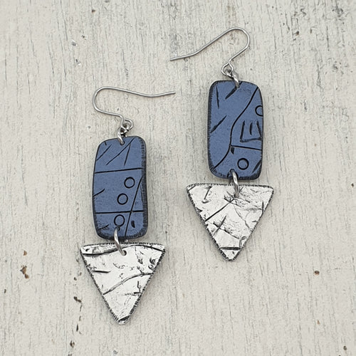 Shore and Sea Isle Polymer Clay Statement Earrings
