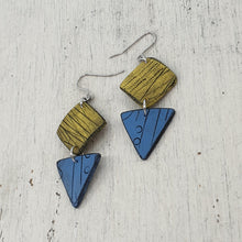 Load image into Gallery viewer, Sun and Seas Isle Polymer Clay Statement Earrings