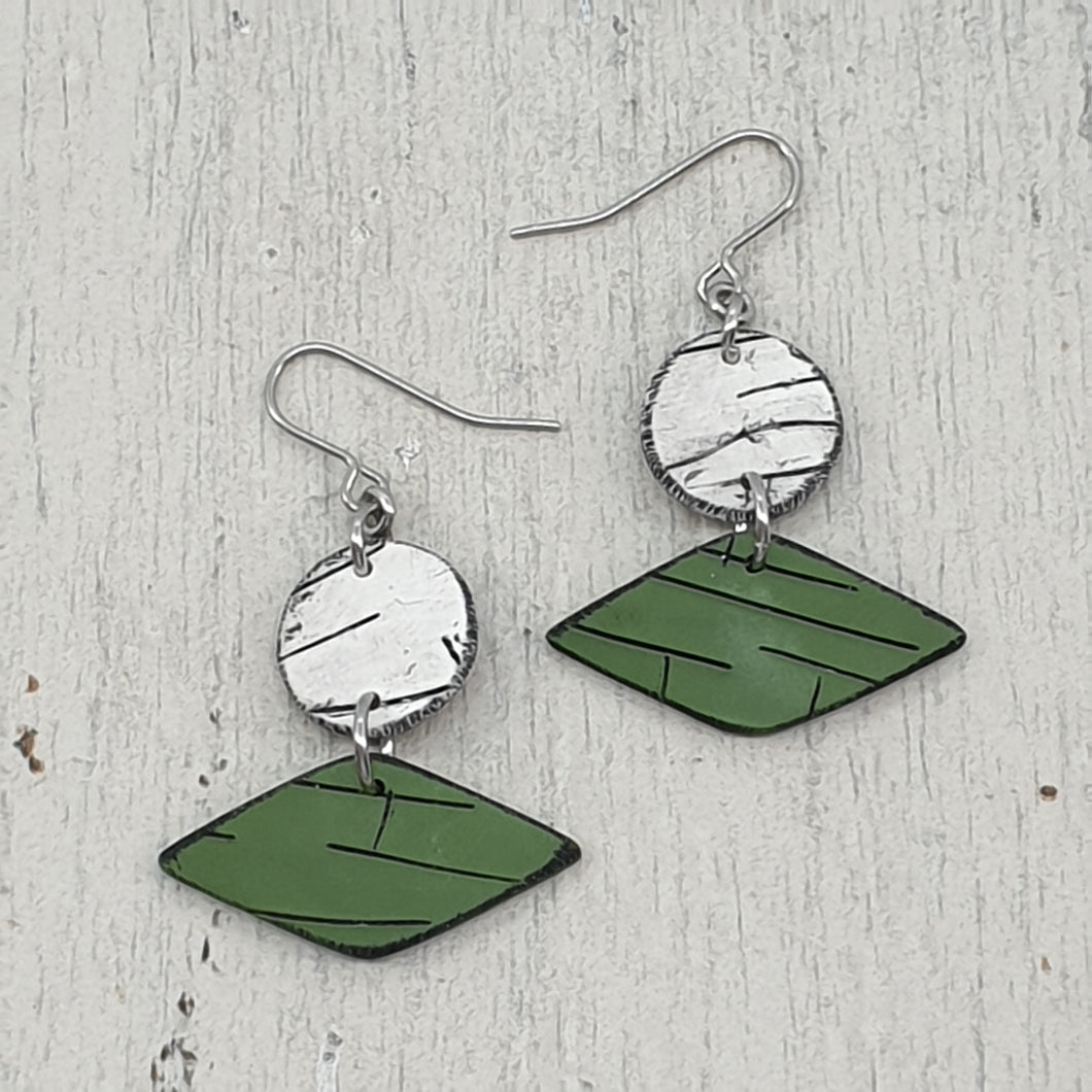Nature's Diamonds Polymer Clay Statement Earrings