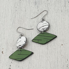 Load image into Gallery viewer, Nature's Diamonds Polymer Clay Statement Earrings