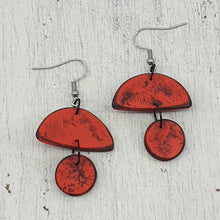 Load image into Gallery viewer, Red Hills Handmade Polymer Clay Statement Dangle Earrings