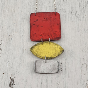 Sunsets and Sunrises a Colourful Polymer Clay Handmade Statement Pendant