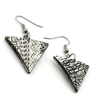 Load image into Gallery viewer, Geometric Black and White Chic Handmade Statement Earrings