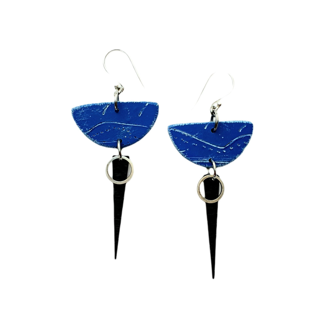 Moia Strikes Earrings - Blue