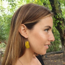 Load image into Gallery viewer, Mawi Isle Earrings - Yellow & Black